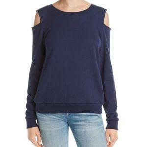 Nation LTD Cold Shoulder Pullover Sweatshirt
